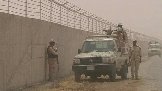 Border patrol between Iran and Pakistan