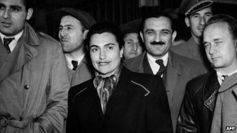 A file photo taken in November 1952 shows the wife of Marshal Tito of Yugoslavia, Jovanka Broz