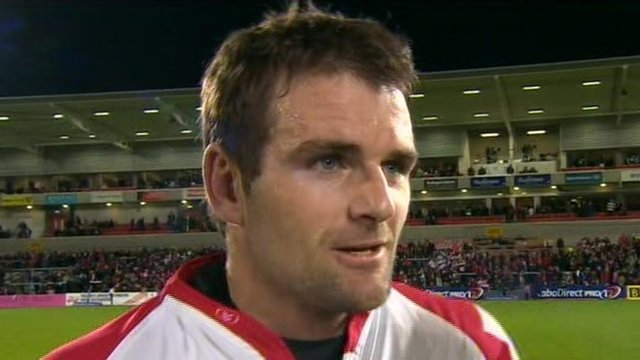 Jared Payne won the match-of-the-match award in Ulster's win over the Blues