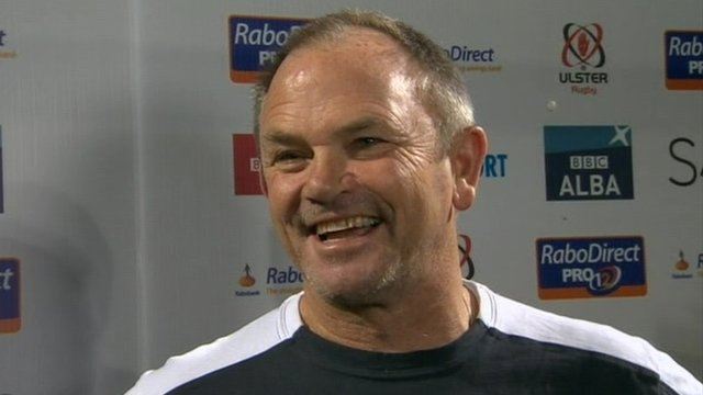 Ulster coach Mark Anscombe after his team's 39-21 win over Cardiff