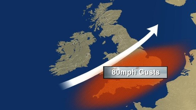 UK braced for severe storm and heavy rain