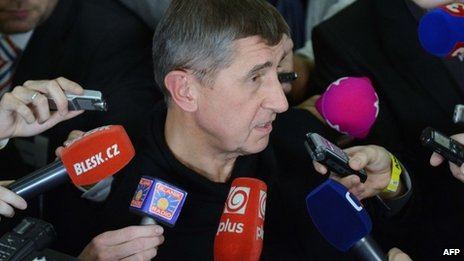 Czech billionaire, Andrej Babis, leader of the Ano movement