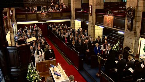 The Service of Remembrance at the Kirk of St Nicholas Uniting in Aberdeen