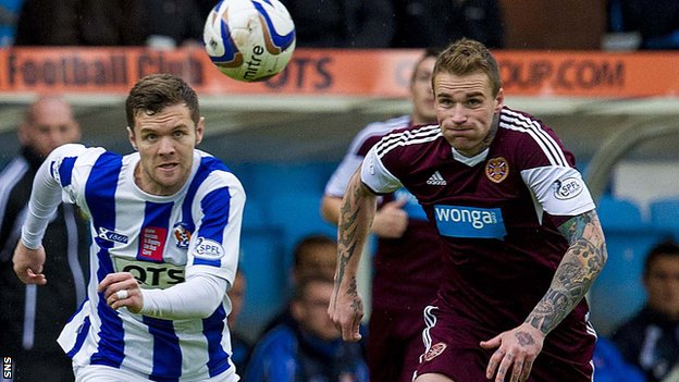 Ryan Stevenson was injured in the 2-0 loss at Rugby Park