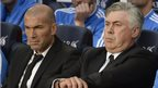 Real Madrid duo Zinedine Zidane and Carlo Ancelotti struggled against Barcelona