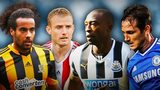 Tom Huddlestone, Lee Cattermole, Shola Ameobi, Frank Lampard