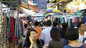 Stalls along Tai Yuen Street in Wan Chai