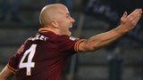 Roma midfielder Michael Bradley