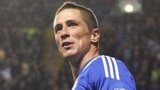 Chelsea striker Fernando Torres celebrates after scoring his team's second and winning goal against Manchester City