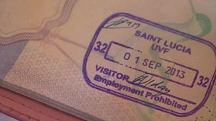 St Lucia passport stamp