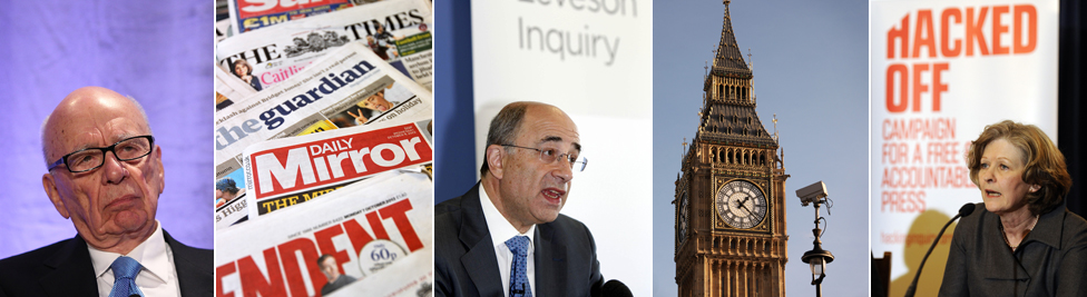 Rupert Murdoch; papers; Lord Leveson; Big Ben; Baroness HOllins (Hacked Off)