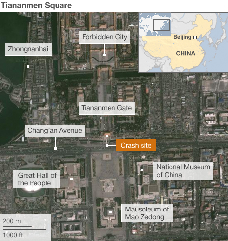 Map of Tiananmen