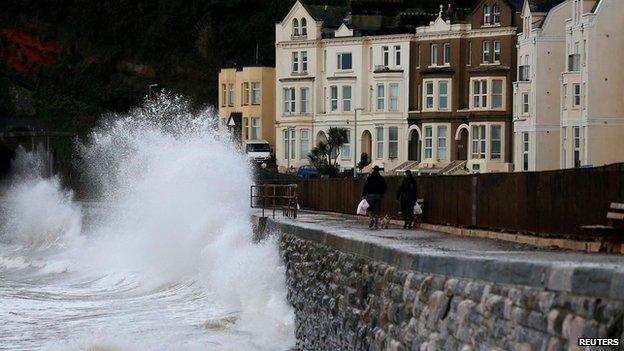 Seafront in Dawlish, Devon