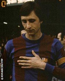 Former Barcelona forward Johan Cruyff