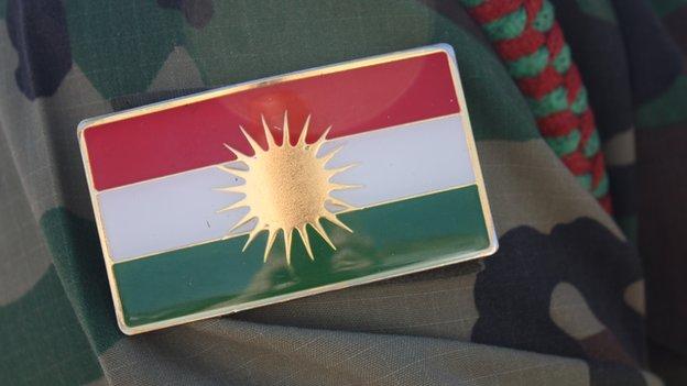 Badge showing flag of Iraqi Kurdistan