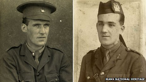 WWI soldiers from the Isle of Man