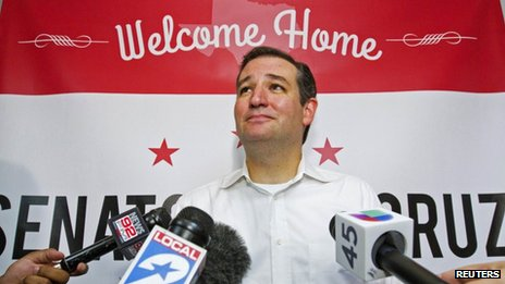 US Senator Ted Cruz appeared in Houston, Texas on 21 October 2013