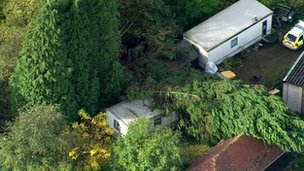 Crushed static caravan in Hever near Edenbridge