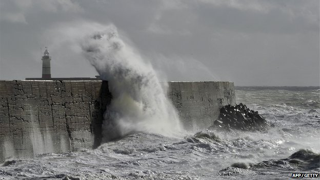 Newhaven in the storm