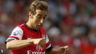 Arsenal midfielder Mathieu Flamini