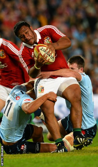 Mako Vunipola in action during the Lions 2013 tour