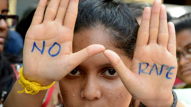 Indian protester against rape