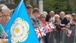 The Yorkshire flag on display in Leeds