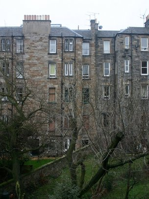 tenement flats in Edinburgh