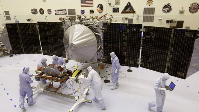 A new Mars craft. It looks like a satellite with large solar panel 'wings'.