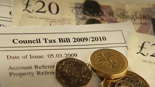Council tax alongside money