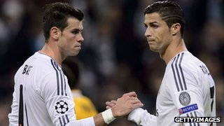 Real Madrid's Gareth Bale and Cristiano Ronaldo