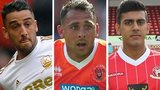 Neil Taylor (left), Michael Chopra (middle) and Malvind Benning (right)