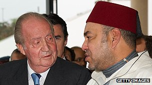 Spanish King Juan Carlos meets Moroccan King Mohammed VI