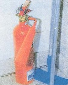 Murder weapon - fire extinguisher