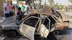 "Site site of a car bomb attack in Baghdad""s Al-Baladiyat district (27 October 2013)"