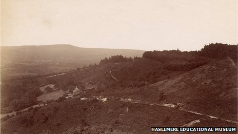 A view of Gibbet Hill in the early 1900s