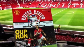 Manchester United programme cover v Norwich City.