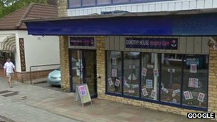 Dorothy House Hospice Care shop in Melksham