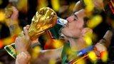 Spain's Iker Casillas lifts the World Cup in 2010