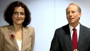 Theresa Villiers and Richard Haass