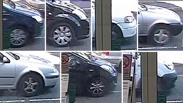 Cars captured on CCTV