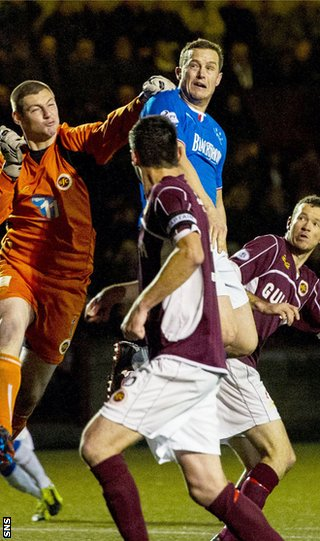 Chris Smith fails to deal with a cross as Jon Daly scores