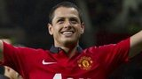 Javier Hernandez celebrates scoring against Norwich