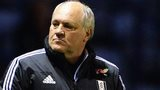 Fulham boss Martin Jol watches on a his side lose to Leicester City