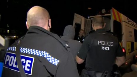 Police arrests in Bristol