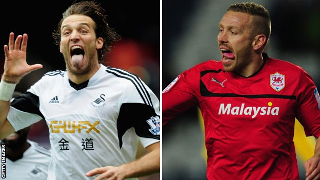 Michu (left) and Craig Bellamy