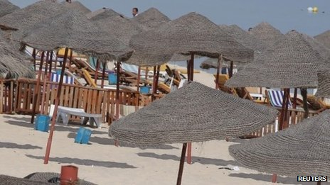A beach in Sousse, Tunisia