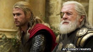 Chris Hemsworth and Anthony Hopkins