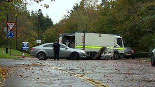 An Army bomb team was sent to examine a suspicious object at a building in Stormont's grounds