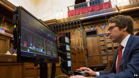 Camera monitors at the Court of Appeal